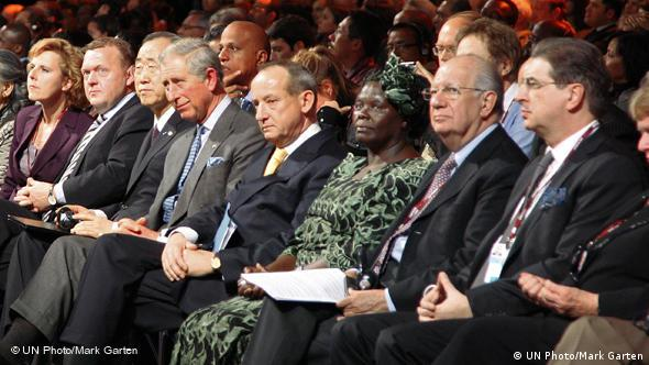 Prominent delegates at the climate talks in Copenhagen in 2009