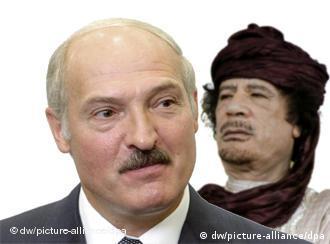 Moammar Gadhafi and Alexander Lukashenko