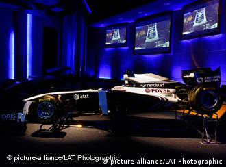 The 2011 Williams F1 car, the FW33, at its launch