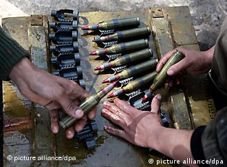 rebels in Benghazi with ammunition
