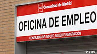 A queue of unemployed people in Spain