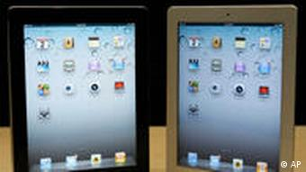 The iPad 2 is shown at an Apple event after the Yerba Buena Center for the Arts Theater in San Francisco, Wednesday, March 2, 2011. (AP Photo/Jeff Chiu)