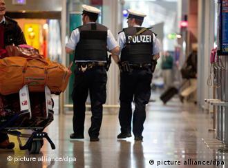 Security at Frankfurt airport