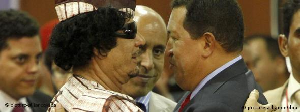 NO FLASH Hugo Chavez Muammar El Gaddafi