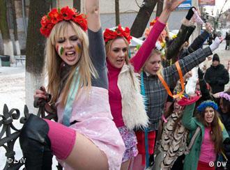Неурядова організація Femen виступає на захист прав українських жінок