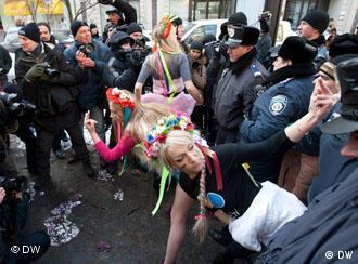 Одна из акций Femen в Киеве