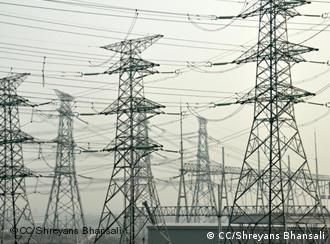 Electricity pylons in Shanghai