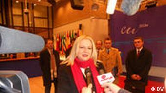 Edita Tahiri, kryetare e delegacionit të Prishtinës.
