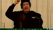 Libyen Fernsehrede von Muammar Gaddafi in Tripolis