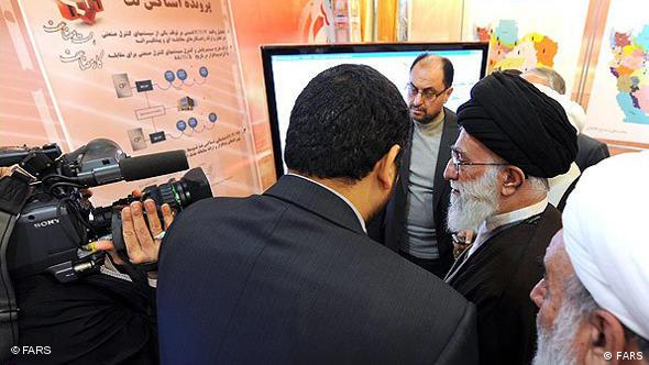 Iran's Supreme Leader Ali Khamenei visiting the Ministry of Intelligence