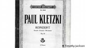 Score of Paul Kletzki's piano concerto