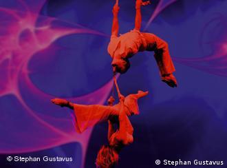 Acrobats perform at the Friedrichstadtpalast