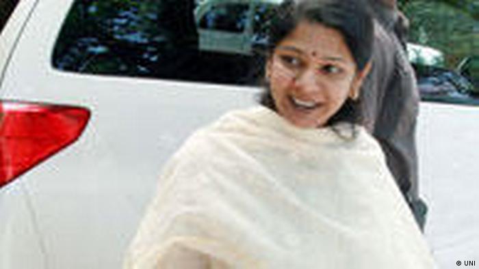 Indien Politikerin Abgeordnete Kanimozhi Karunanidhi (UNI)