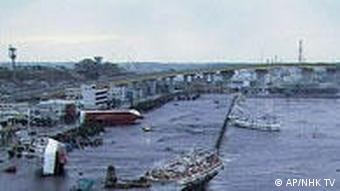 Schiffe wurden an Land gespült, Hachinohe, Japan (Foto: AP)
