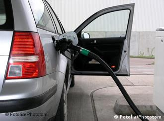 Car with petrol pump