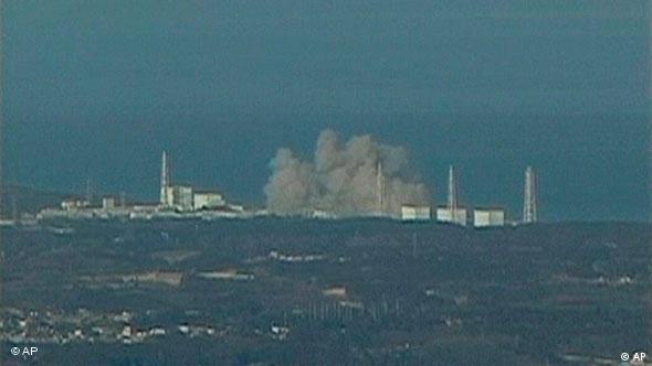 Reaktor Fukushima vom Meer aus (Foto: AP)
