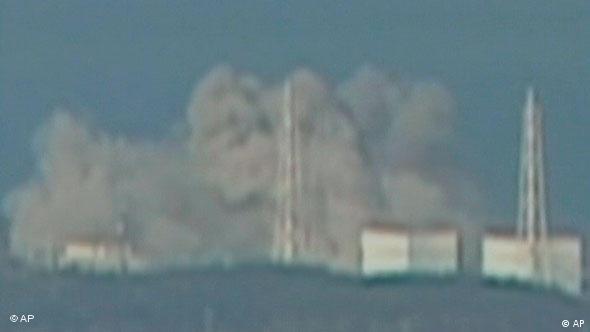 Explosion am Reaktorblock 1 des Kernkraftwerks Fukushima am 12.3.2011 (Foto: ap)