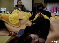 Moradores dos arredores de Fukushima tiveram que se refugiar em abrigos improvisados