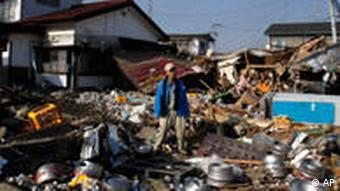 Scene of devastation in Sendai, Japan