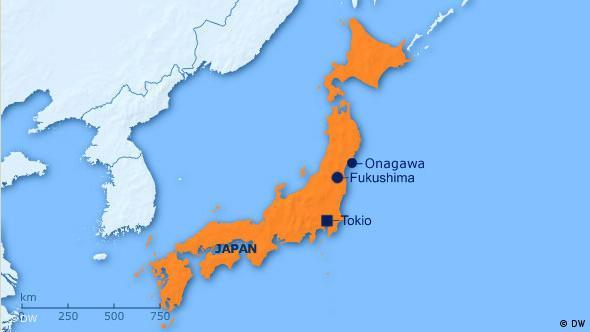 Flash-Galerie Fukushima und Onagawa 2011 Karte Überblick Lage Japan