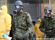 Defesa civil busca moradores de Otama, nos arredores da usina. Quase 500 estavam na região na hora da explosão. Foto: DW