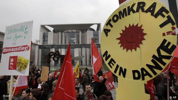 Anti-nuclear protest in Berlin