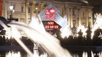 Trafalgar Square with countdown clock