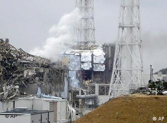 The damaged Number 4 reactor at the Fukushima Dai-ichi nuclear complex