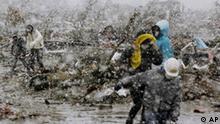 Japan Erdbeben Trümmer 16.02.2011