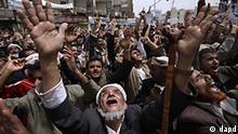Jemen Demonstration gegen die Regierung in Sanaa alter Mann