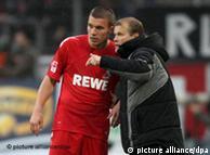Frank Schaefer y el delantero Lukas Podolski se conocen desde largo.