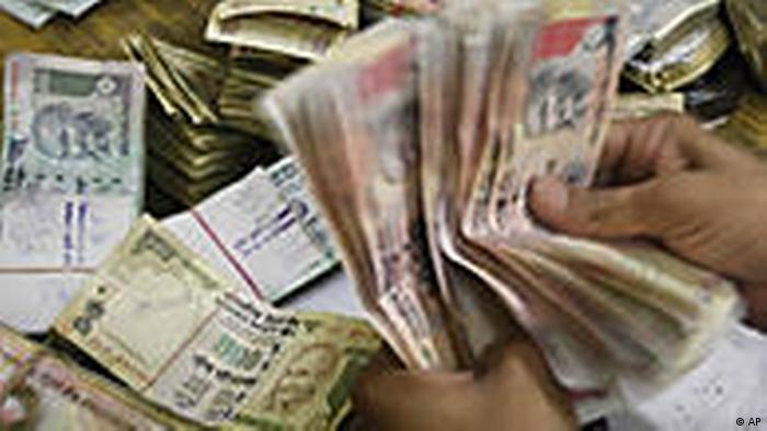 Indien Währung Banknoten Geld Rupee (AP)