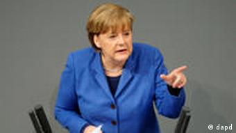 Chancellor Merkel addressd parliament on the nuclear issue