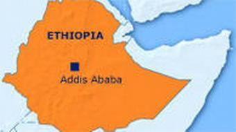 Karte Äthiopien englisch