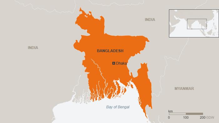 Karte Bangladesch englisch Neu!!