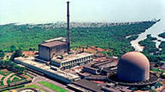 Two nuclear research reactors, Dhruva, left, and Cirus, right, within the Bhabha Atomic Research Center on the outskirts of Bombay,