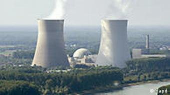Aerial shot of nuclear power plant Philippsburg near Karlsruhe