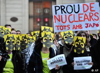 Демонстрация противников атомной энергетики в Испании