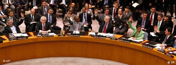 Security Council vote on Libyan no-fly zone