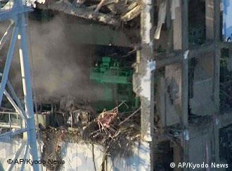 Destruction at the Fukushima power plant