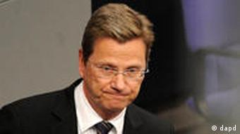 Bundesaussenminister Guido Westerwelle Libyen