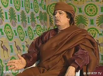 Gaddafi (Foto: AP/RTP TV)