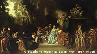 Antoine Watteau, Gesellschaft im Freien, um 1720 (Foto: Staatliche Museen zu Berlin, Jörg P. Anders)