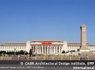 天安门广场东侧的中国国家博物馆