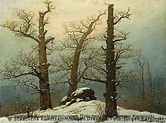 One work on show: Caspar David Friedrich's Dolmen in the Snow (1807)