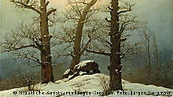 Caspar David Friedrich, Hünengrab im Schnee, 1807 (Foto: Staatliche Kunstsammlungen Dresden, Jürgen Karpinski)