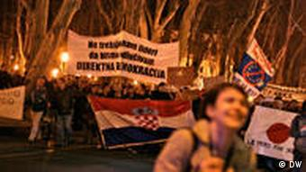 Croatian protesters