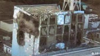 Разрушенный реактор на АЭС Фукусима