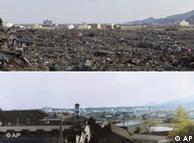 重灾区岩手县地震前后对比图