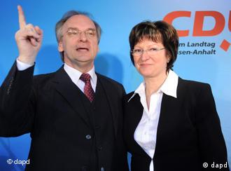 Rainer Haseloff and his wife